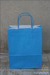 Bolsas de Papel Asa Rizada Azul
