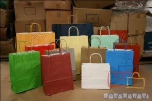 Rebajas en Bolsas de Papel Gama Colores