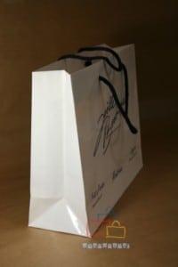Bolsas de papel impresas asa cordón