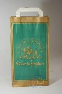 Bolsas de papel impresas fondo verdes