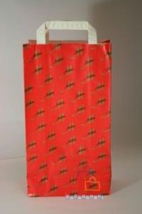 Bolsas de papel impresas rojas