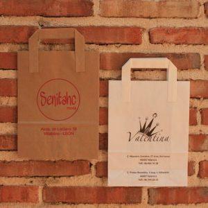 bolsas de papel impresas kraft con tu logo