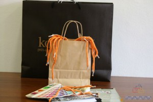 Bolsas de papel impresas composicióin dos colores