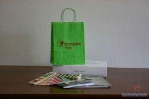 Bolsas de papel impresas verde
