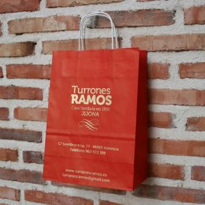 Bolsas de Papel Rojo Inglés