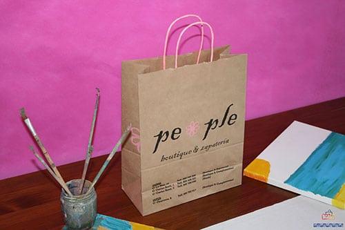 bolsas de papel kraft personalizadas con acabados increibles