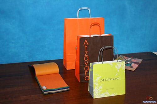 bolsas de papel para comercio personalizadas
