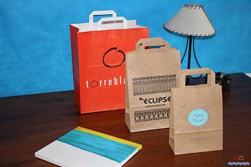 bolsas de papel para comercio impresas
