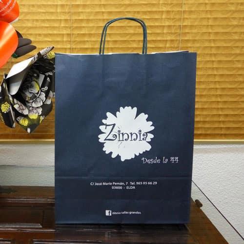 tienda bolsas de papel azul marino