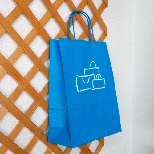 Bolsa de Papel Azul Turquesa 2