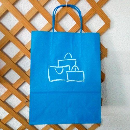 Bolsa Papel Azul Turquesa